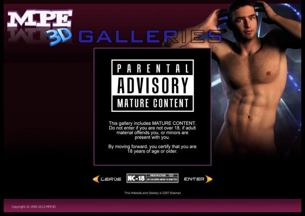Gallery NC-18 Warning Screen